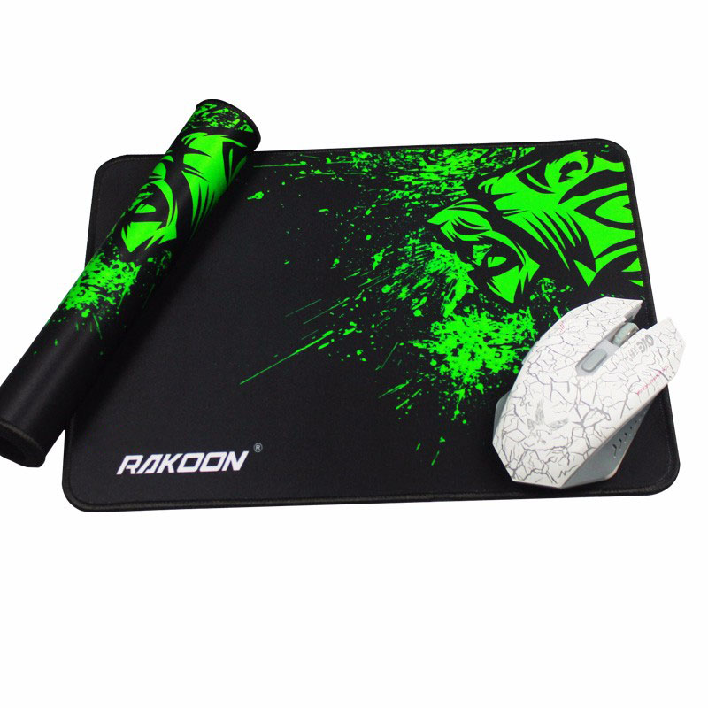 Reejoyan Rakoon Gaming Mouse Pad antideslizante PC Ordenador Gamer Mousepad Bloqueo de borde Alfombrilla de ratón de caucho natural para CS GO LOL DOTA2
