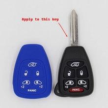 car accessories araba aksesuar key cover for  patriot Wrangler Rubicon 6 Button Remote Fob Silicone