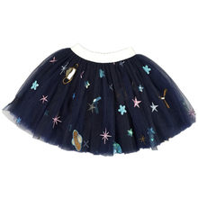 Ins Hot Little Girls Lace Tutu Skirt Embroidery Starts Toddler Girls Lace Mini Skirt Glitter Flowers Kid Gray Ball Gown Skirts(China)