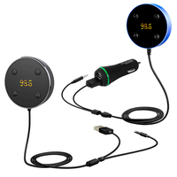 2 In 1 USB Handsfree Wireless Bluetooth Car FM Transmitter And Receiver Kit Car Bluetooth