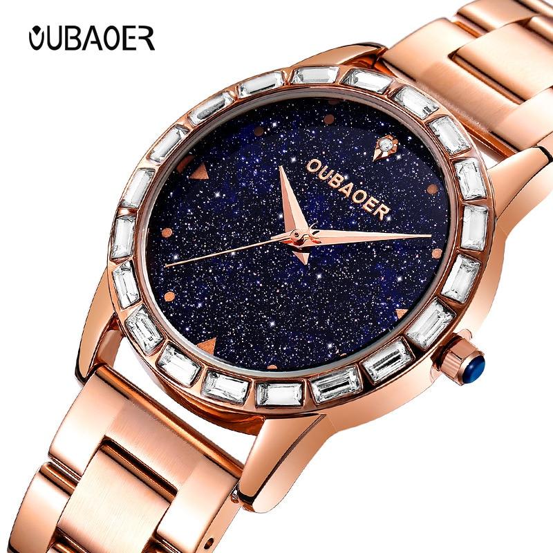 Dames de mode montres à quartz en acier inoxydable saphir cristal de luxe diamant femme montres étanche mouvement Citoyen