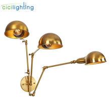Современная позолоченная настенная лампа железные настенные