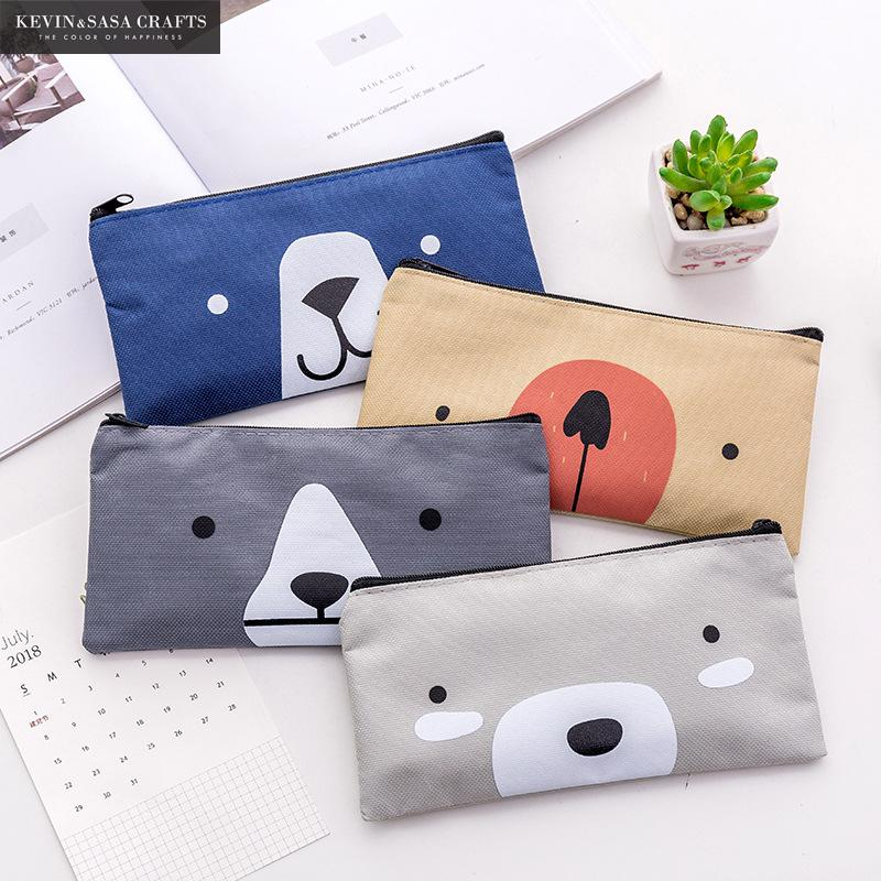 New Pencil Case Fabric Bag School Supplies Stationery Gift School Cute Pencil Box Pencilcase Pencil Bag School Supply Tool