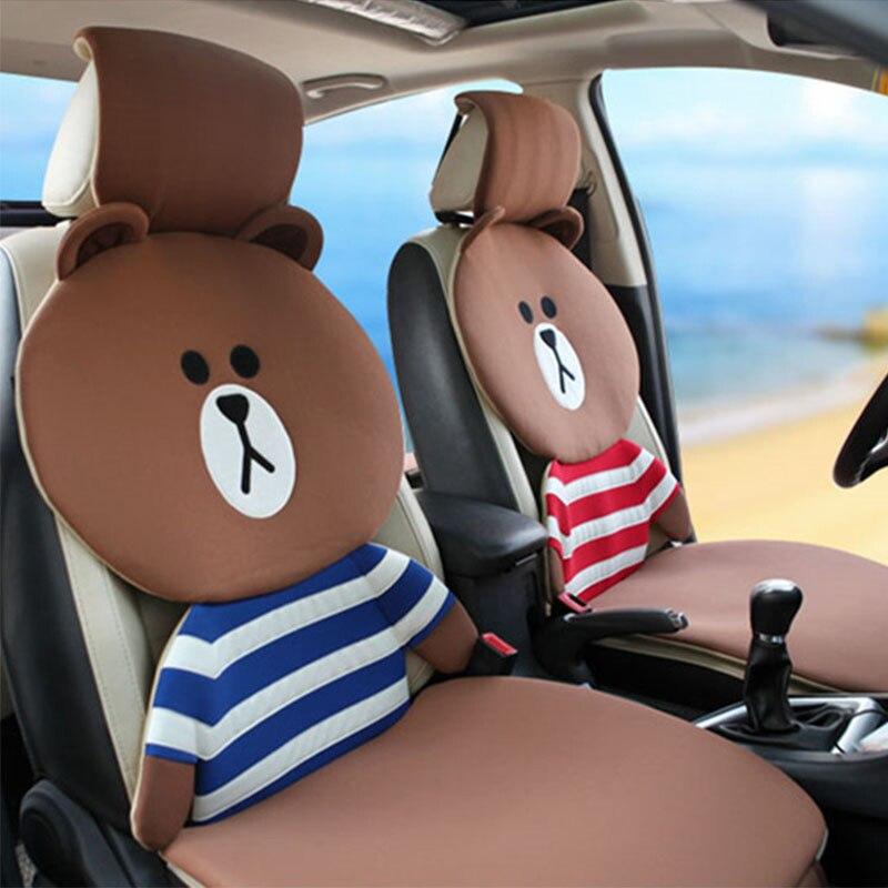 Brown bear Car Seat Cushion Cover