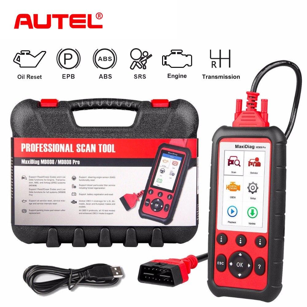 Autel MD808 Pro De Voiture Outil De Diagnostic OBD2 Code Lecteur Scanner EPB ABS SRS DPF pour Huile et Batterie Réinitialisation D'enregistrement OBD Scanner