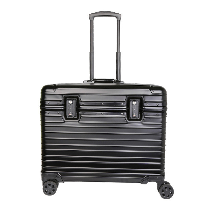 100% Aluminum Hardside Rolling Travel Luggage Suitcase 20 Carry On Luggage Cabin Trolley Suitcase Aluminum Suitcase y road travel trolley luggage suitcase 100