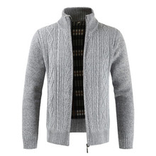 Cardigan Men 2018 Winter Brand Thick Warm Cashmere Wool Zipper Cardigan Sweaters Man Casual Knitwear Sweatercoat Male Clothe