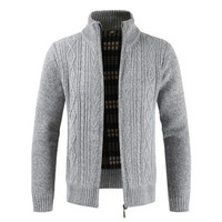 Cardigan Men 2018 Winter Brand Thick Warm Cashmere Wool Zipper Cardigan Sweaters Man Casual Knitwear Sweatercoat Male Clothe