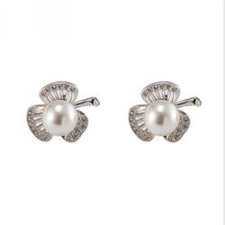 925-029E joyería fina de plata 925 Real de perlas de agua dulce para mujer