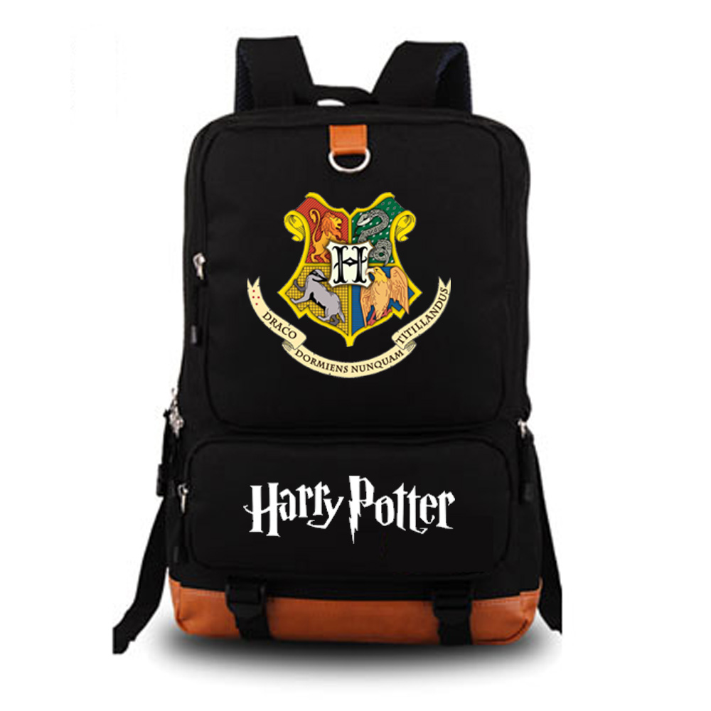 Harry Potter school bag noctilucous backpack student school bag Notebook backpack Daily backpack new pattern hogg watts magic school school badge quartz pocket watch senior high school student harry potter gift table ds281