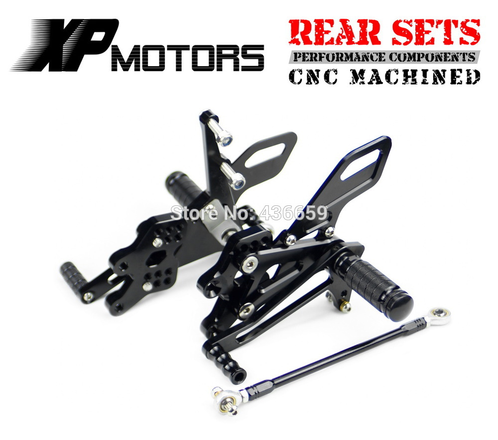 CNC Motorbike Adjustable Foot Rests For KAWASAKI ZX10R 04-05 Rearset Foot Pegs Rear Set Footrests fit for KAWASAKI ZX10R 04-05 Gold