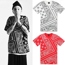 2017hot New African Style Short Sleeved T Shirt Printing Mens West Coast Cashew Flower Tide