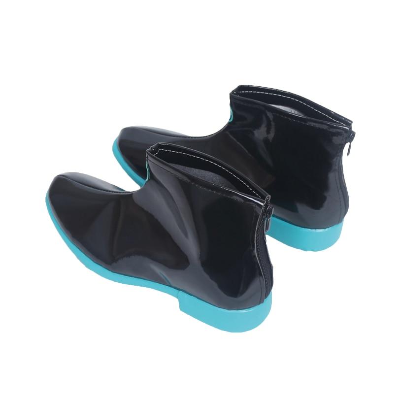 Hatsune Miku Cosplay Carnaval chaussures bottes Halloween noël chaussures