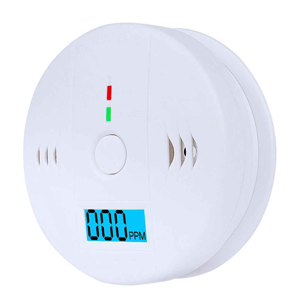 Carbon Monoxide Detector LCD Display CO Monitor Home Security Smoke Alarm LCD Photoelectric Independent  Warning High SensitiveCarbon Monoxide Detector LCD Display CO Monitor Home Security Smoke Alarm LCD Photoelectric Independent  Warning High Sensitive