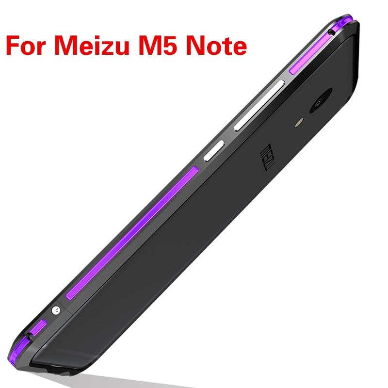 imágenes para Luphie parachoques del metal de aluminio de lujo original de la marca para meizu m5 nota case forma de columna marco con el botón del metal