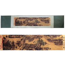 лучшая цена ShaoFu Wall Art Silk Scroll Paintings Chinese Traditional Famous Painting Along The River During QingMing Festival Home Decor