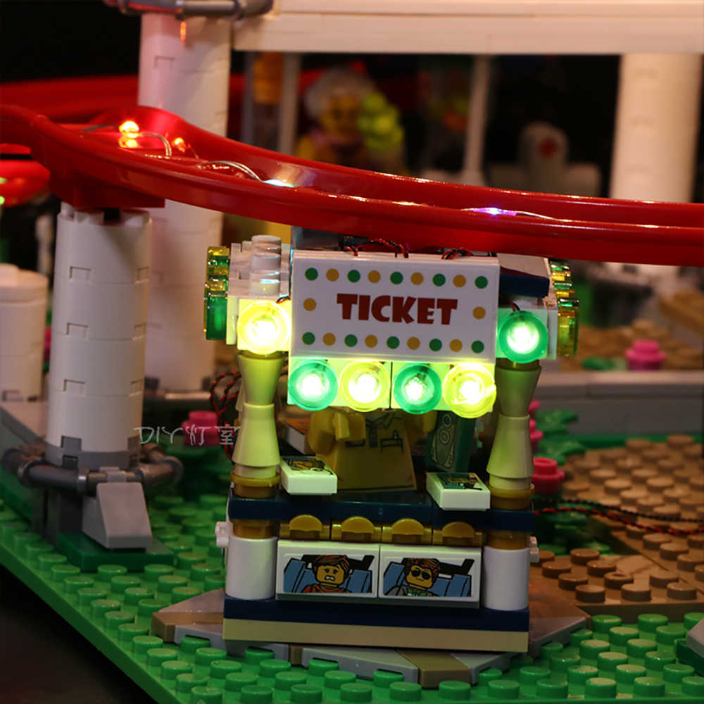Led Licht Set Fur Lego 10261 Die Achterbahn Kompatibel 15039 Stadt Creator Bausteine Ziegel Spielzeug Nur Led Licht Aliexpress