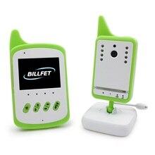 Видео Монитор Младенца 2.4 дюймов ЖК-ИК Ночного видения Колыбельные 2 способ обсуждение монитор Температуры 4CHs VOX радио ребенка монитор