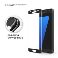 G. d. smith de la cubierta completa 3d protector de pantalla de cristal templado para samsung galaxy s7 edge seguridad película protectora al por menor y al por mayor