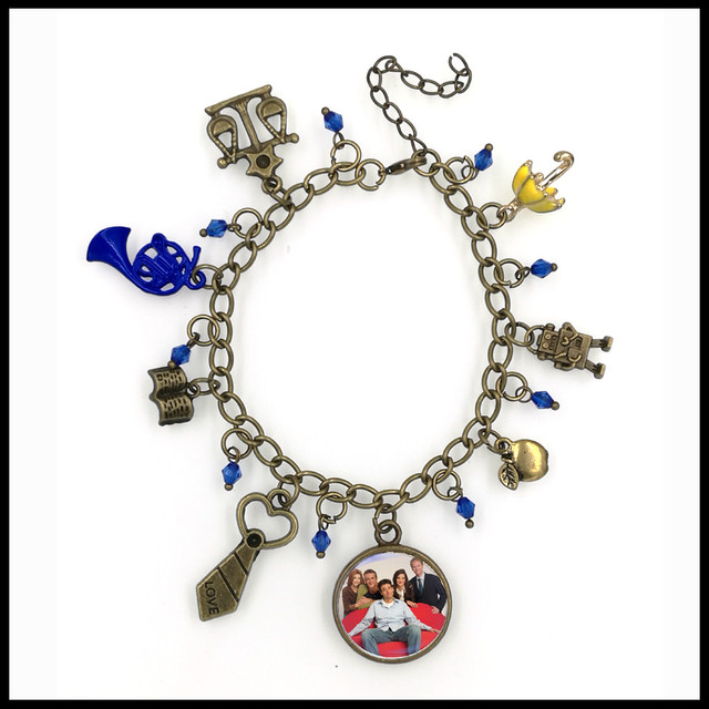 Himym How I Met Your Mother Inspirational Charm Bracelet Tv Series Jewelry Blue French Horn Yellow