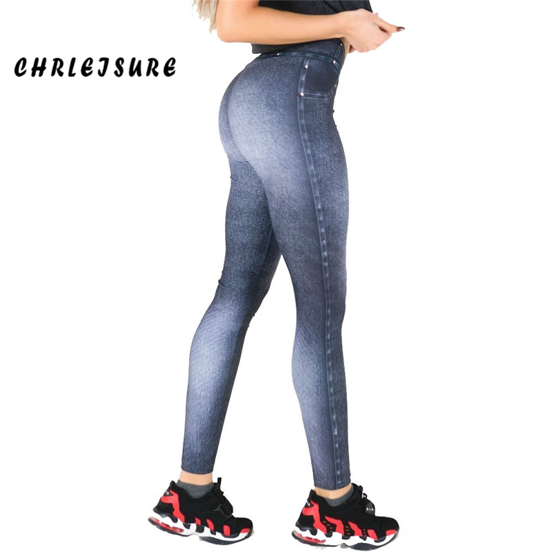 CHRLEISURE New Hot Jeans for Women Casual  Denim Pants Polyester Tight hip High Waist Fitness Breathable High Stretch leg Pants denim