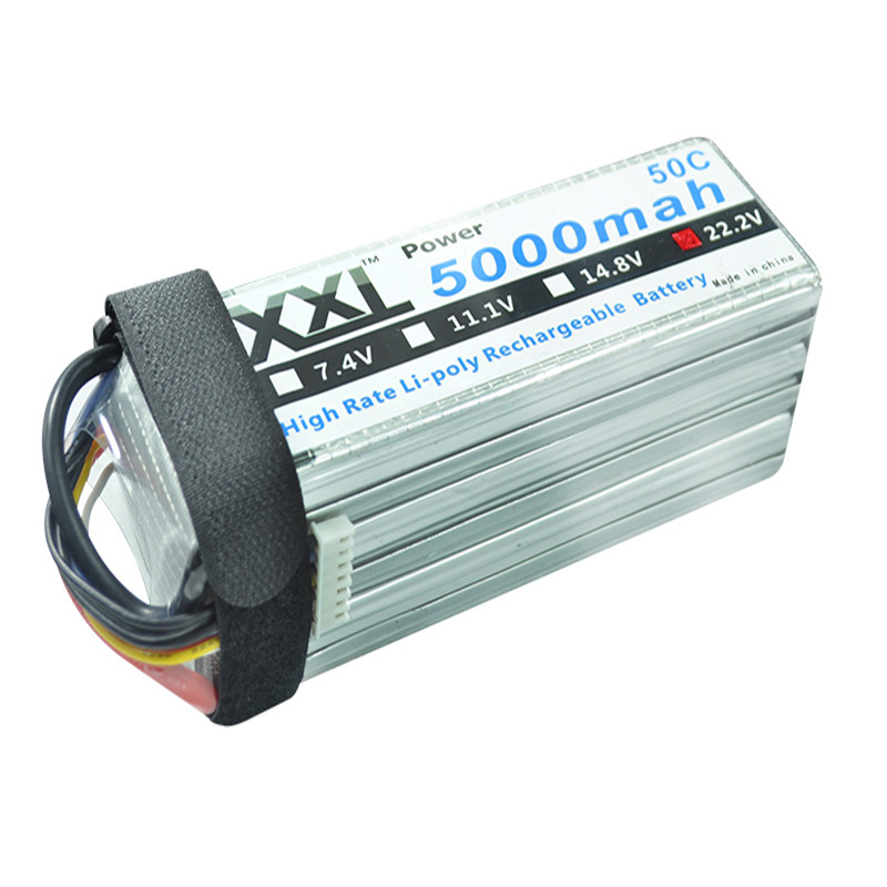 XXL RC Lipo Battery 5000mah 22 2V 6S 50C 100C Li poly AKKU Bateria For RC