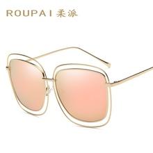 ROUPAI  Brand Designer Polarized  Women Sunglasses Vintage Fashion Driver Metal Sun Glasses P0846