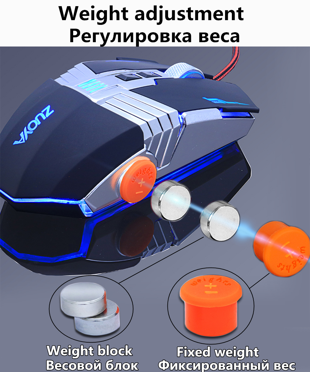 Zuoya Gaming Mouse Professional Gamer Adjustable 3200dpi Led Optical Wiring Diagram Mmr6
