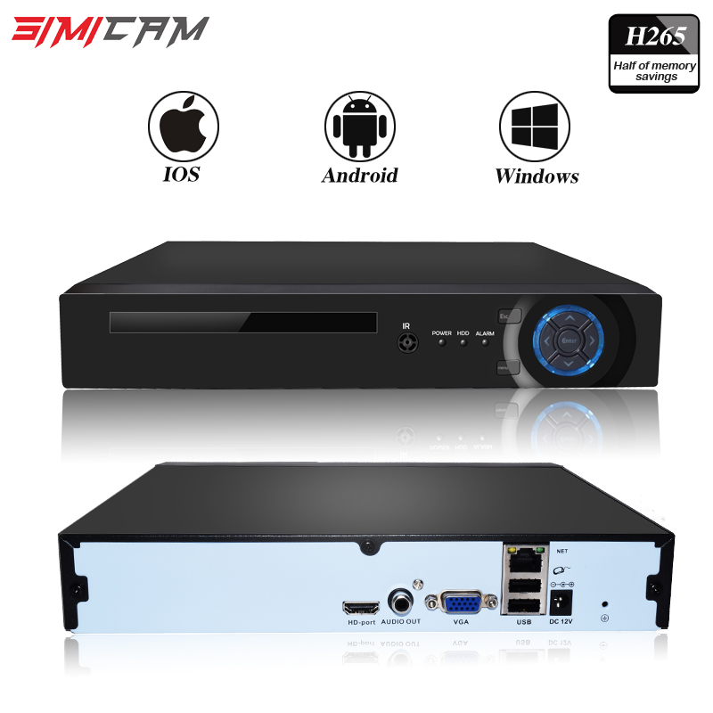 NVR 4 Channels 8 Channels Video Recorder CCTV Recorder for ONVIF Wifi Camera ip network camera H.264/H.265 Support app