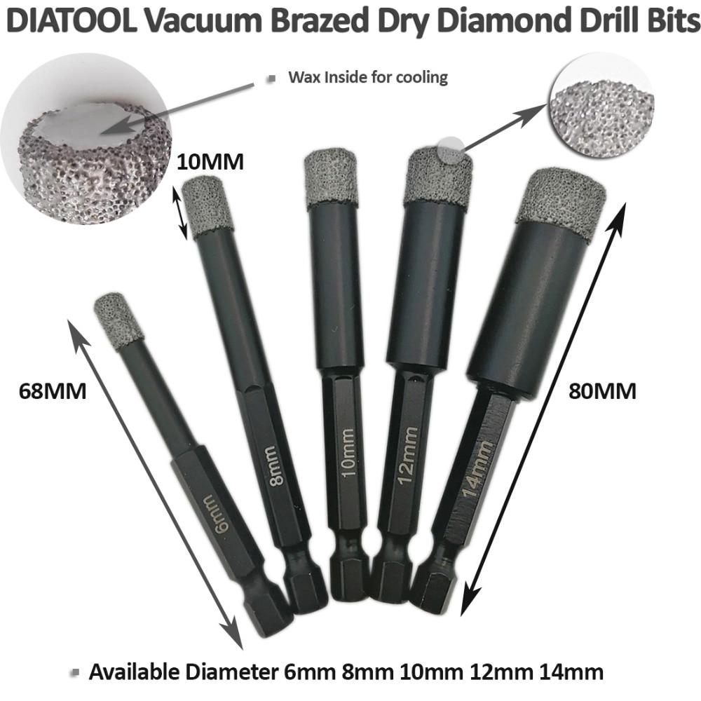 DIATOOL 2 buc bucăți 10mm Mușchiuri de diamant sablate cu vid, cu - Burghiu - Fotografie 5