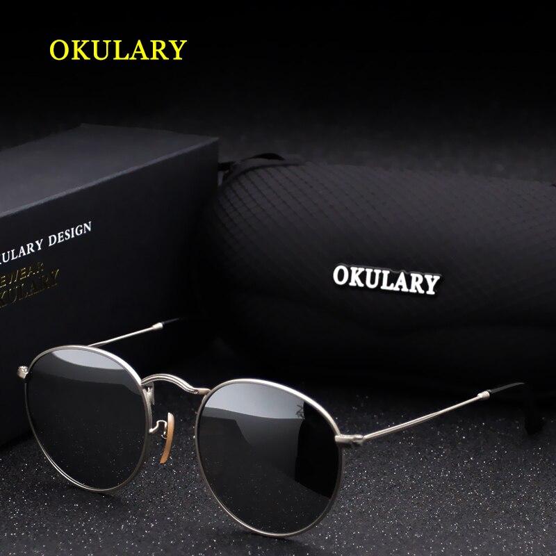 2018 nueva Oval gafas de sol mujeres negro/rosa/azul/plata Color acero inoxidable con la Caja
