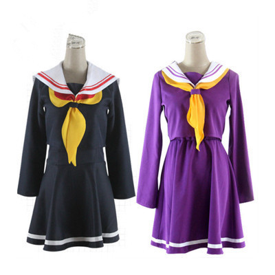 48325c63b New Style Game Life Black COSPLAY NO GAME NO LIFE Sister Purple Sailor  Costume Uniform