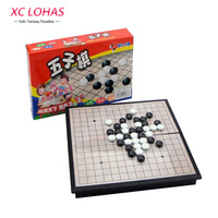 Foldable 19 19 5cm Gomoku Gobang Chess Game Black And White Baduk Magnetic Chess Sets Educational