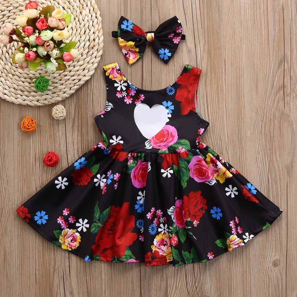 Kleinkind Kind Baby Mädchen Kleidung Blumen Bowknot Prinzessin Party ...