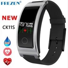 Frezen Новый CK11S Smart группа крови Давление монитор сердечного ритма наручные часы фитнес-браслет трекер Шагомер Браслет