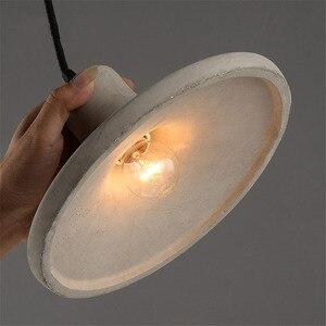 Image 4 - Luzes pingente de cimento criativo do vintage lâmpadas pingente de concreto industrial cinza pendurado luzes edison lâmpadas