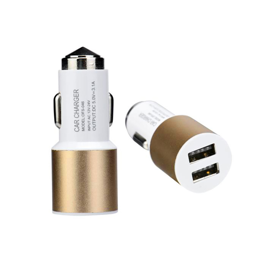 Dual USB 2 Port Car Charger Adapter For iPhone 6 6S For Samsung For LG G5