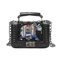 Winter Chic Elephant Embroidery Pattern Handbags Luxury Brand Women Chain Shoulder Bags Louis Leather Handbags Sac