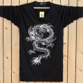 2016 New Chinese Dragon T shirts Long Sleeve Man Round Collar Tee shirts Man's Fashion Streetwear New Cotton Print T-shirts Boys
