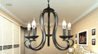 Nordic Korean Lighting Chandelier European Iron Modern Chandelier Lights Simple Living Room Chandeliers American Bedroom