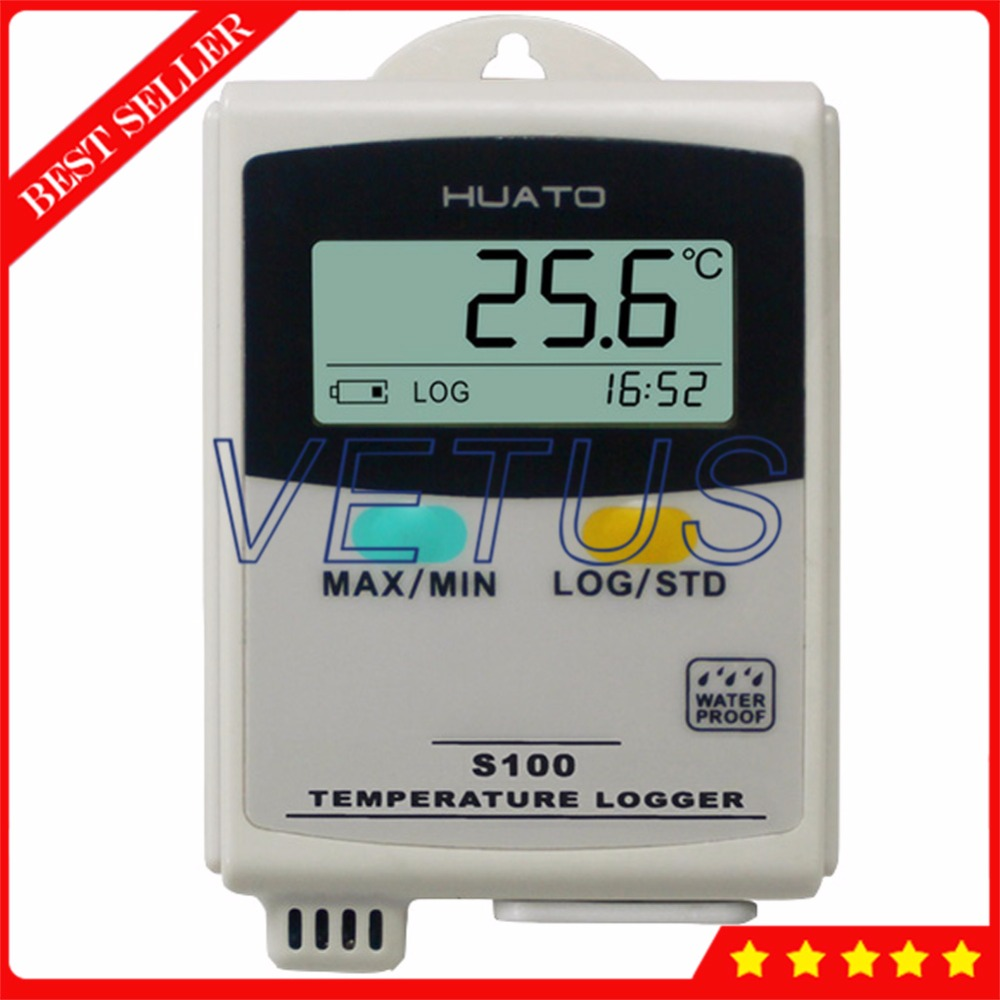S100-TH Mini USB interface Temperature Humidity Data Logger with LCD Display Dataloggers Recorder Interna Sensor az 7788 desktop co2 temperature humidity monitor data logger air quality detector