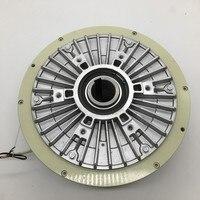 Içi boş Mil Manyetik Toz Fren 100Nm 10 kg DC 24 V 1000 RPM Açma Gerilim Kontrolü Için Sürekli Sürgülü Simüle yük