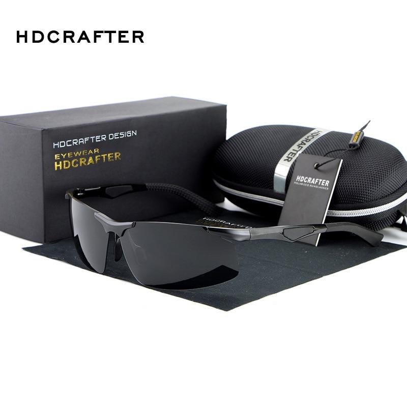 HDCRAFTER Polarized men luxury brand Sun Glasses shades