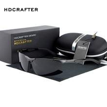 HDCRAFTER DrivingGlasses Поляризованные Rimless Солнцезащитные Очки мужчины люксовый бренд Солнцезащитных Очков óculos de sol мужской оттенки E300