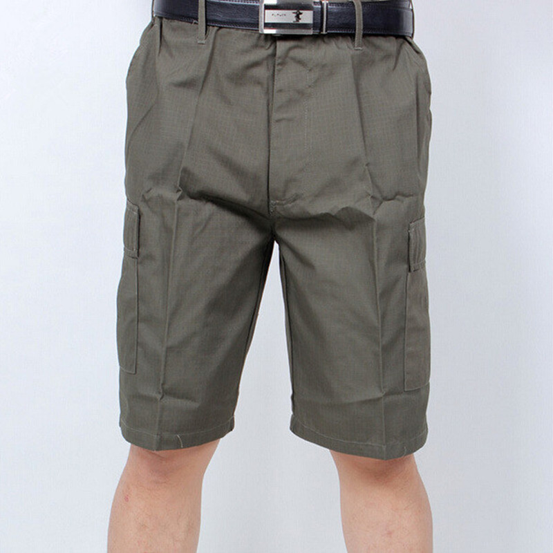 Outdoor Camouflage Cotton Loose Cargo Shorts Summer Mens Camping Climbing Sports Riding Knee Length Breathable Short Trousers