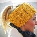 Women Handmade Knitted Hats Lady Empty Top Hat Crochet Hemp flowers cap Holiday gift