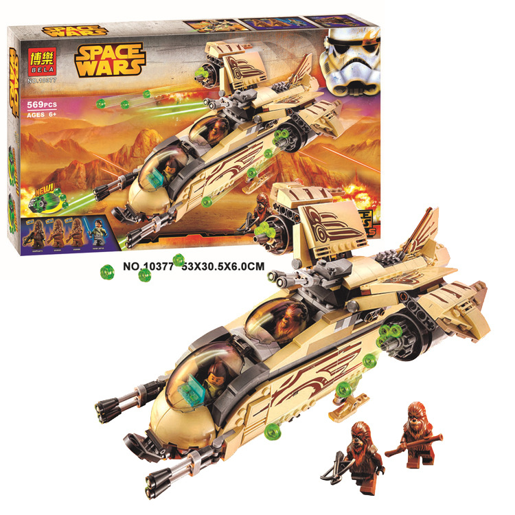 Bela 10377 Star Wars Wookiee Gunship Blocks Bricks Toys Set Boy Game Plane Weapon Compatible with Decool Lepin Sluban