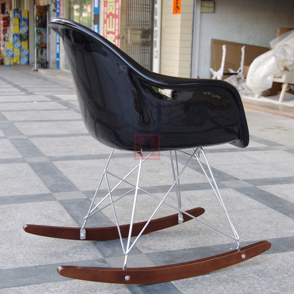 Eames Rar Us 336 Free Shipping Fiberglass Original Eames Rar Rocking Chair Designer Furniture Rocking Chair High Quality Living Room Chair In Free