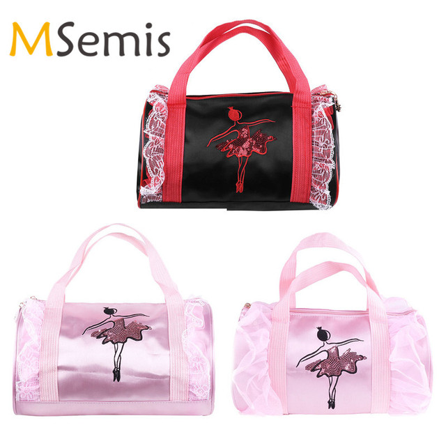 507a0c64eb4 Kids Girls Dance Bag Ballet Bag Ballerina Embroidered Dancing Tutu Duffle  Bag for Children Shoulder Bag with Detachable Strap