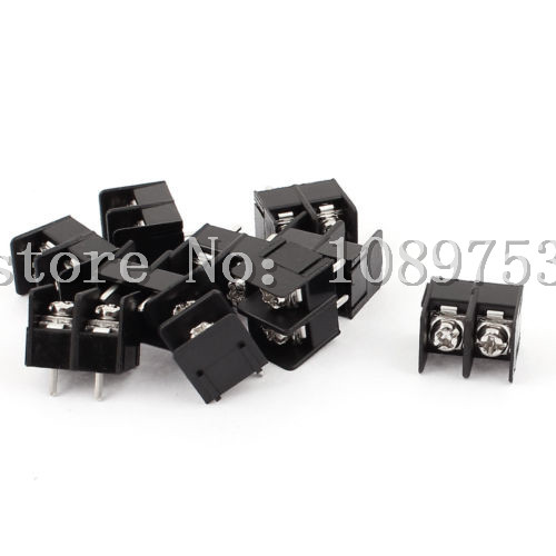 100 Pcs 8.5mm Pitch 2 Pin 2 Way PCB Barrier Terminal Block Connector Black 300V 20A 5 pcs 400v 20a 7 position screw barrier terminal block bar connector replacement